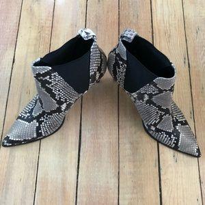 Zara Snake Print Boots Size 7